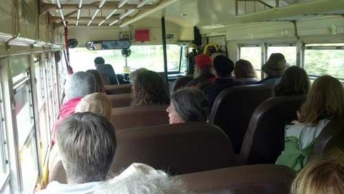 Bus ride to Turner Farm.