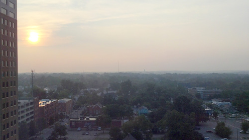 dawn over eastern Raleigh and the Piedmont