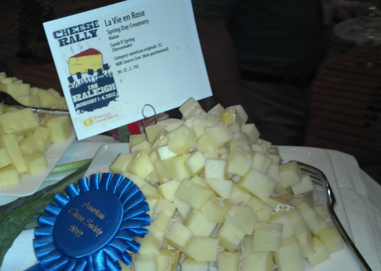 Sarah Spring's award winning La Vie En Rose from Spring Day Creamery