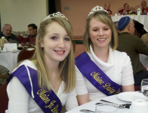 Maine's 2011 Dairy Princesses at the Ag Trade Show Commissioner's Luncheon