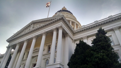 CA State House early morning